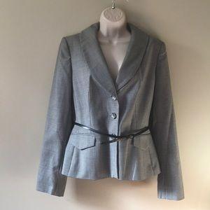 Ann Taylor loft gray black blazer jacket size 8